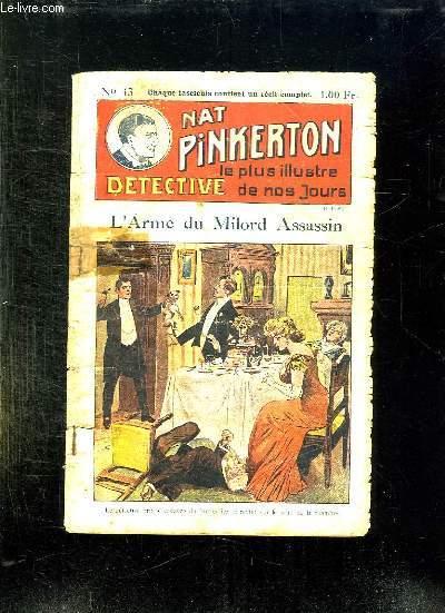 NAT PINKERTON N° 43 L ARME DU MILORD ASSASSIN.