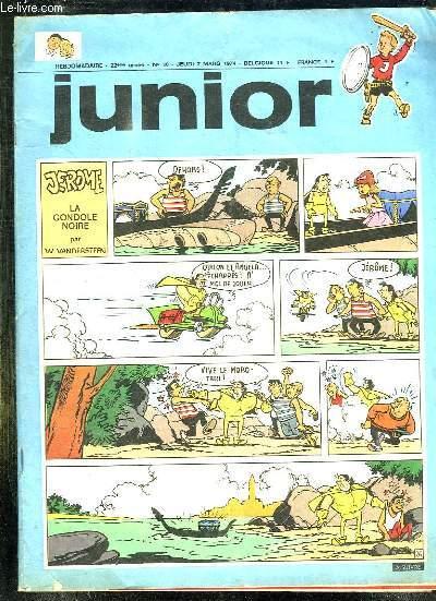 JUNIOR N° 10 DU JEUDI 7 MARS 1974. JEROME LA GONDOLE NOIRE...