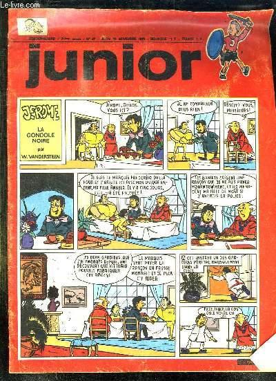 JUNIOR N° 47 DU JEUDI 22 NOVEMBRE 1973. JEROME LA GONDOLE NOIRE.