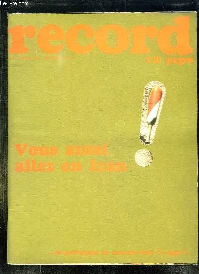 RECORD N° 117 OCTOBRE 1971. VOUS AUSSI ALLEZ EN IRAN.