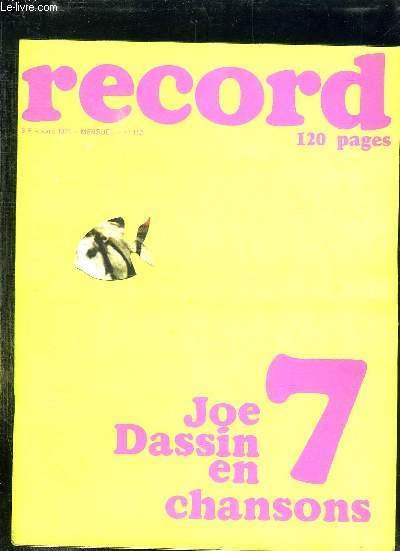 RECORD N° 112 AVRIL 1971. JOE DASSIN EN 7 CHANSONS.