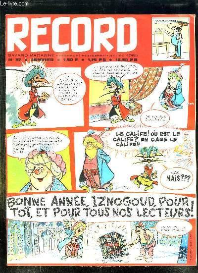 RECORD N° 37 JANVIER 1965 SUR LA COTE LANDAISE UN BATEAU ABANDONNE, ANTONIO LE PORTUGAIS VOLONTAIRE POUR L EXIL...