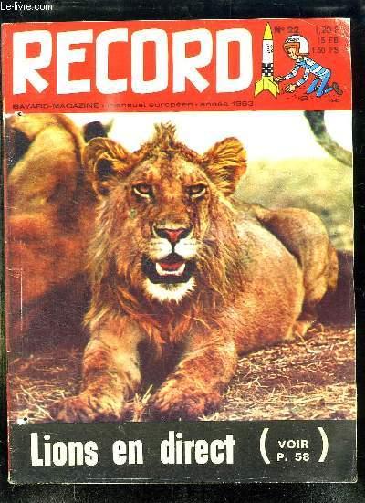 RECORD N° 22 1963. BIJOUTIERS AMATEURS COMMENT FAIRE DE EMAUX, LE SALON DE L AUTO, UN SPORT JEUNE LE JUDO...