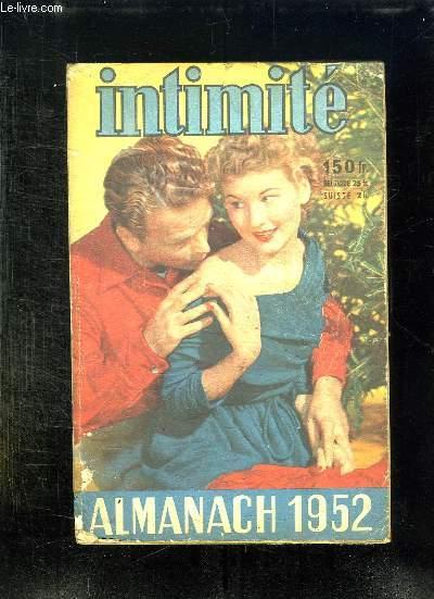 INTIMITE ALMANACH 1952.