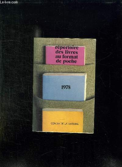 CATALOGUE DE LIVRES AU FORMAT DE POCHE 1978.