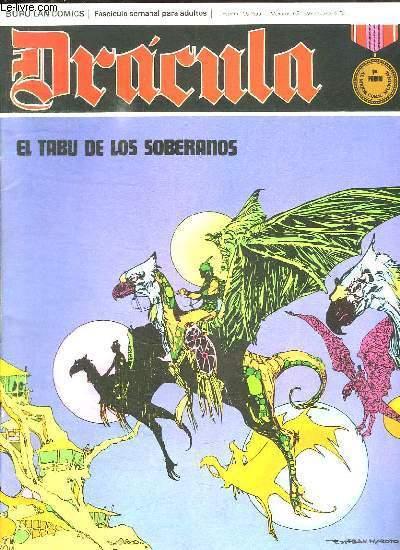 DRACULA N° 21. EL TABU DE LOS SOBERANOS. TEXTE EN ESPAGNOL. BANDE DESSINEE POUR ADULTES.