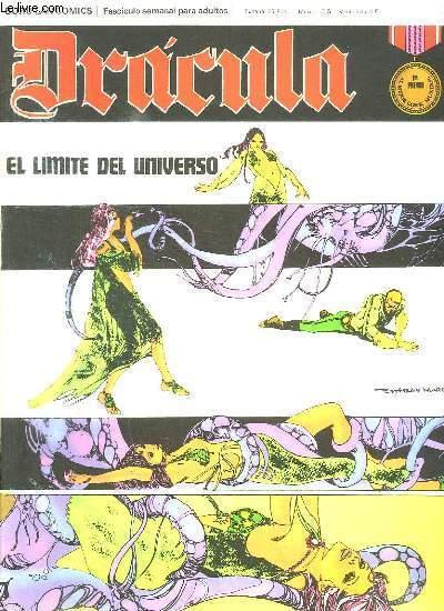 DRACULA N° 24. EL LIMITE DEL UNIVERSO. TEXTE EN ESPAGNOL. BANDE DESSINEE POUR ADULTES.