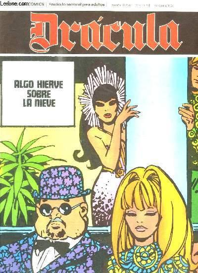 DRACULA N° 34 ALGO HIERVE SOBRE LA NIEVE. TEXTE EN ESPAGNOL. BANDE DESSINEE POUR ADULTES.