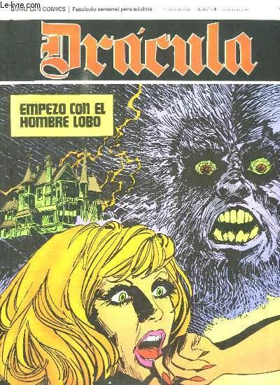 DRACULA N° 44 EMPEZO COM EL HOMBRE. TEXTE EN ESPAGNOL. BANDE DESSINEE POUR ADULTES.
