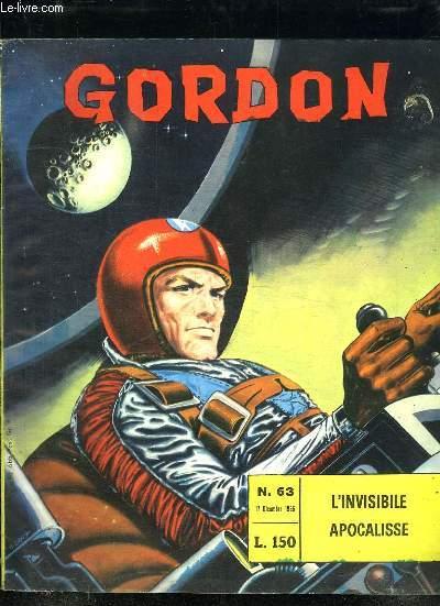 GORDON N° 63 DU 17 DICEMBRE 1966. L INVISIBILE APOCALISSE. TEXTE EN ITALIEN.