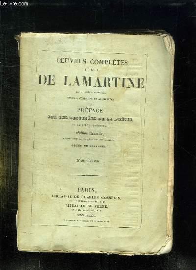 OEUVRES COMPLETES DE MA DE LAMARTINE. TOME 2. EDITION NOUVELLE.