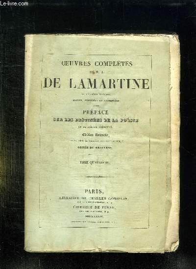 OEUVRES COMPLETES DE MA DE LAMARTINE. TOME 4.