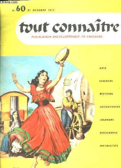 TOUT CONNAITRE N° 60 DU 31 OCTOBRE 1957. LES PEUPLES D EUROPE.