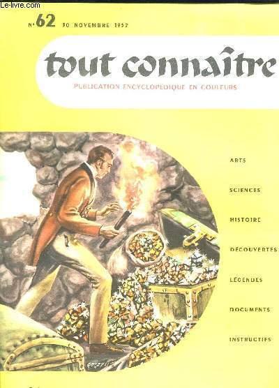 TOUT CONNAITRE N° 62 DU 30 NOVEMBRE 1957. LE COMTE DE MONTE CRISTO.