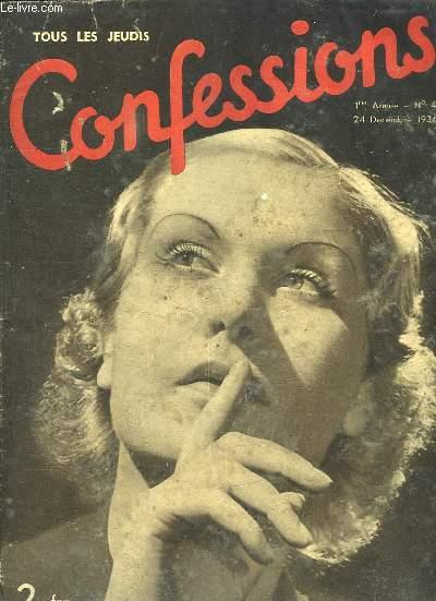 CONFESSIONS N° 4 DU 24 DECEMBRE 1936. J AI ETE MERBOTH, SEUL INFIRME PERDU DANS UNE VILLE EN FETE, UN DOCUMENT UNIQUE SUR LES AMOURS LES CRUAUTES ET LES INTRIGUES DE MARECHAUX CHINOIS...