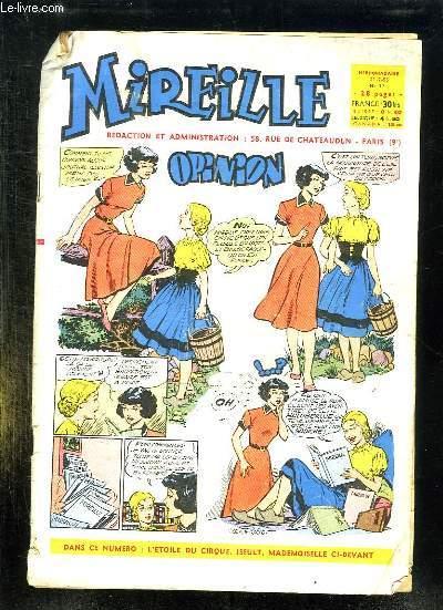 MIREILLE N° 77 DU 21 JUILLET 1955. OPINION.