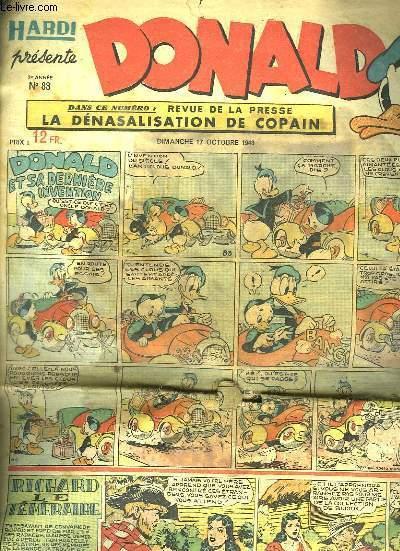 DONALD N° 83 DU DIMANCHE 17 OCTOBRE 1948.