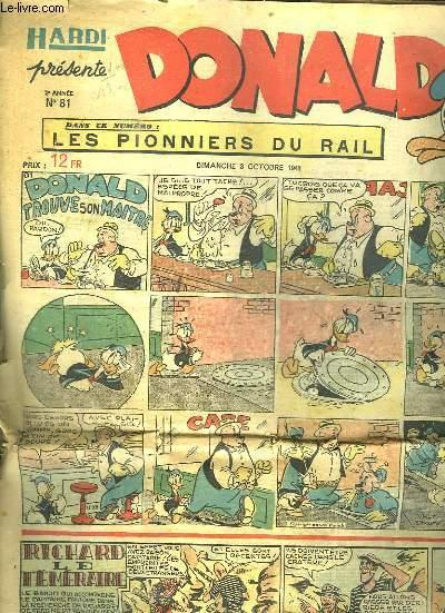 DONALD N°  81 DU DIMANCHE 3 OCTOBRE 1948.