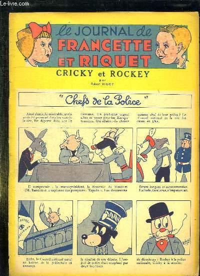 LE JOURNAL DE FRANCETTE ET RIQUET. CRICKY ET ROCKEY.