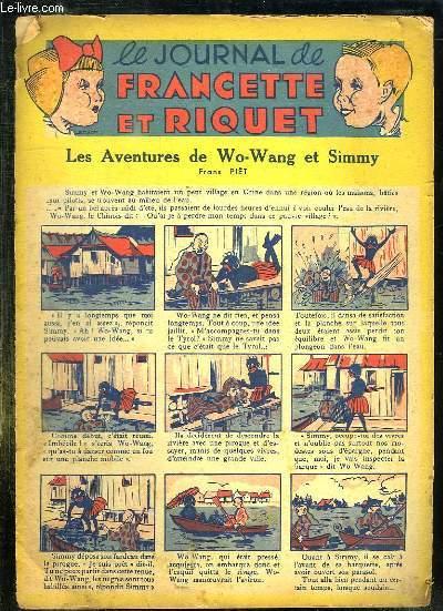 LE JOURNAL DE FRANCETTE ET RIQUET. LES AVENTURES DE WO WANG ET SIMMY.