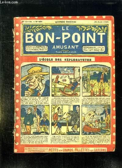 LE BON POINT N° 404 DU 26 AOUT 1920. L ECOLE DES EXPLORATEURS.