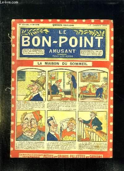 LE BON POINT N° 410 DU 7 OCTOBRE 1920. LA MAISON DU SOMMEIL.