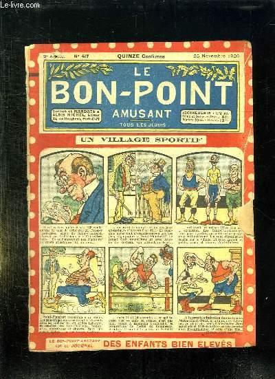 LE BON POINT N° 417 DU 25 NOVEMBRE 1920. UN VILLAGE SPORTIF.