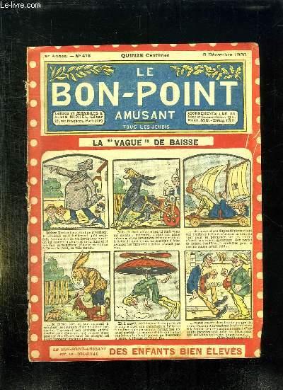 LE BON POINT N° 418 DU 2 DECEMBRE 1920. LA VAGUE DE BAISSE.