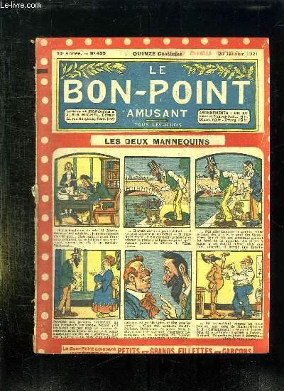 LE BON POINT N° 425 DU 20 JANVIER 1921. LES DEUX MANNEQUINS.