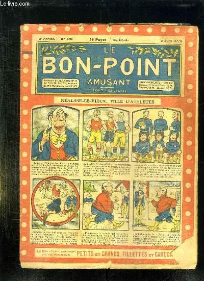 LE BON POINT N° 601 DU 5 JUIN 1924. NENESSE LE VIEUX VILLE D ATHLETES.