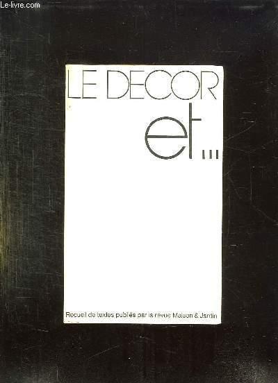LE DECOR ET ...