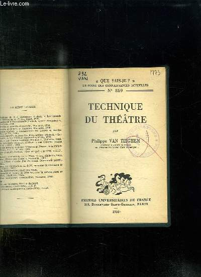 TECHNIQUE DU THEATRE.