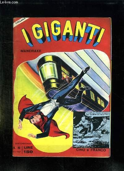 IGIGANTI MANDRAKE N° 6. TEXTE EN ITALIEN.