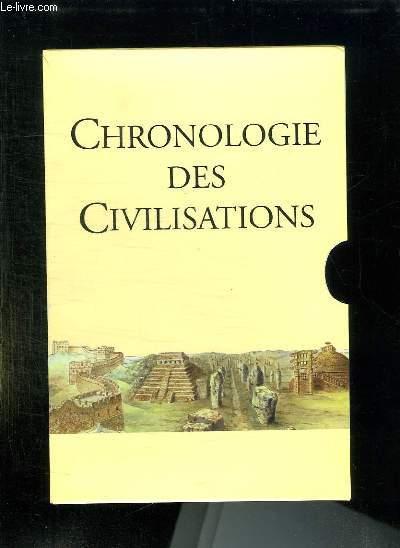 CHRONOLOGIE DES CIVILISATIONS.