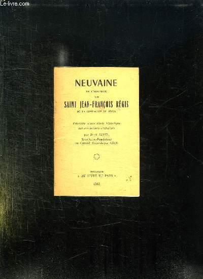 NEUVAINE EN L HONNEUR DE SAINT JEAN FRANCOIS REGIS DE LA COMPAGNIE DE JESUS.