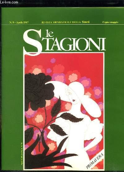 LE STAGIONI N° 9 APRILE 1987. GLI ASTRI 1987, I COLORI DEL VISO, LO SCRIGNO DELLA NATURA... TEXTE EN ITALIEN.