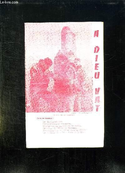 A DIEU VAT N° 195 MARS AVRIL 1961. SOMMAIRE: LES OEUVRES DE MER, POMPOMS BLEU ET CASQUETTES, TEMOIGNAGE SUR LES FAMILLES DE MARINS, CHRONIQUE DE L APOSTOLAT MARITIME...