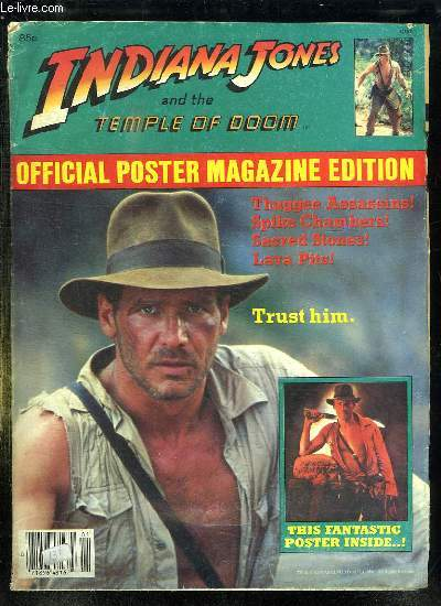 INDIANA JONES AND THE TEMPLE OF DOOM. OFFICIAL POSTER MAGAZINE EDITION.