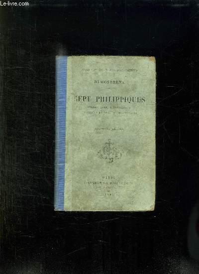 DEMOSTHENE. SEPT PHILIPPIQUES. 4em EDITION. TEXTE EN GREC ET EN FRANCAIS.