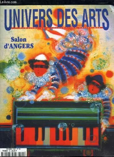 UNIVERS DES ARTS N° 35 OCTOBRE 1998. SOMMAIRE: SALON D ANGERS, SYMPHONIE POUR UNE FEMME EN ROUGE...