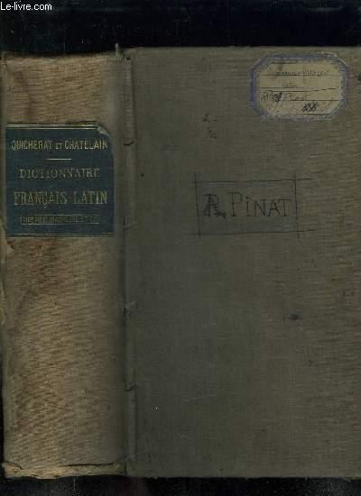DICTIONNAIRE FRANCAIS LATIN. NOUVELLE EDITION.