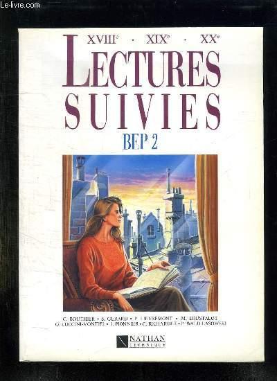 LECTURES SUIVIES BEP 2.