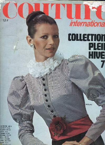 COUTURE INTERNATIONAL . COLLECTION PLEIN HIVER 73.