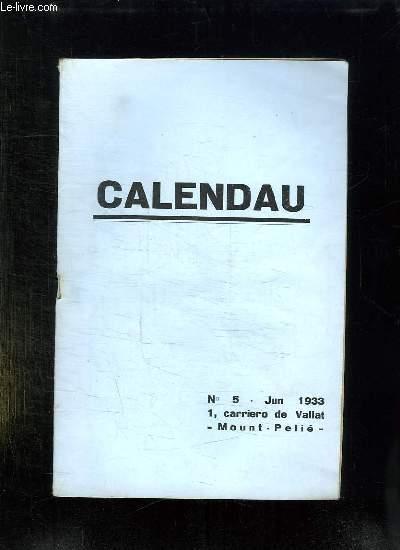 CALENDAU N° 5 JUIN 1933. DISCOURS DOU CAPOULIE A LA SANTO ESTELLO DE TOULOUN.