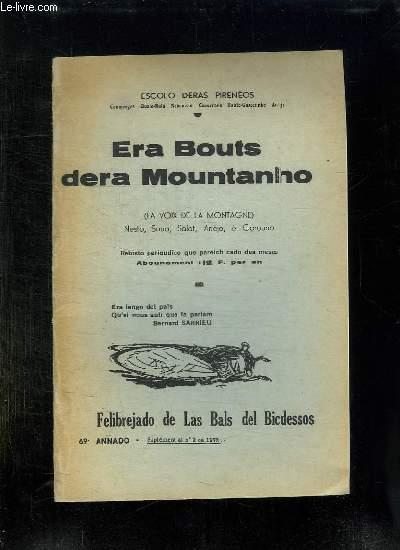 ERA BOUTS DERA LOUNTANHO. LA VOIX DE LA MONTAGNE. SUPPLEMENT AU N° 2 DE 1979. TEXTE EN FRANCAIS ET EN ESPGNOL.