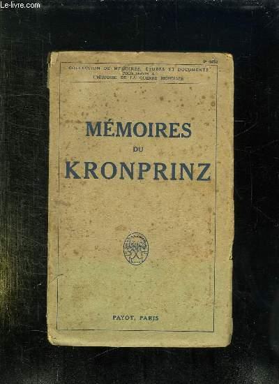 MEMOIRES DU KRONPRINZ.