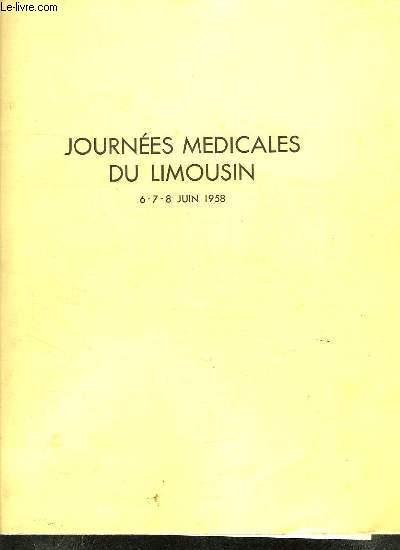LE LIMOUSIN MEDICAL N° 25 JUIN 1958.