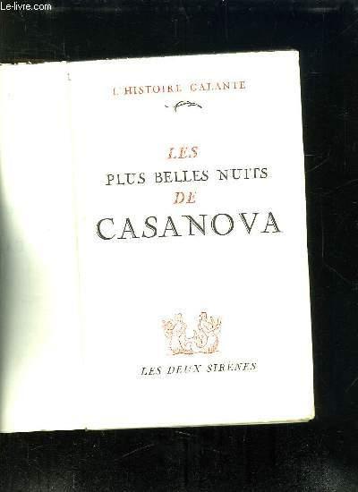 LES PLUS BELLES NUITS DE CASANOVA.