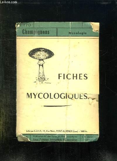FICHES MYCOLOGIQUES.