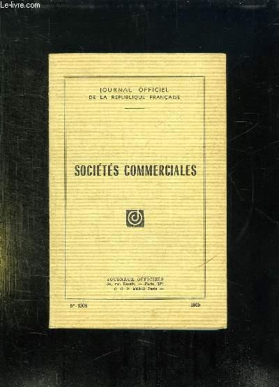 JOURNAUX OFFICIEL N° 1308. 1969. SOCIETE COMMERCIALES.